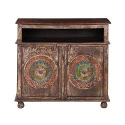 Meble Kolonialne - kolorowa drewniana komoda z Indii (SDA-043)