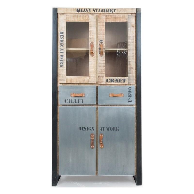 Meble industrialne - duża szafka/gablotka (FAC-136)