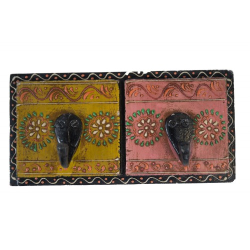 Indyjski wieszak malowany (wieszak-19)
