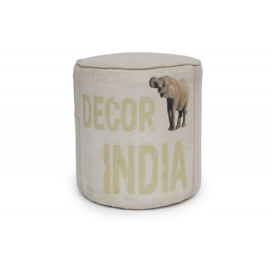 Pufa indyjska W Stylu Vintage Loft (PUF-4)