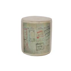 Pufa indyjska W Stylu Vintage Loft (PUF-7)