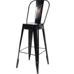 Meble Industrialne – metalowe industrialne krzesło barowe (INDS-CH-03C)