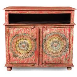 Meble Kolonialne - kolorowa drewniana komoda z Indii (SDA-043A)
