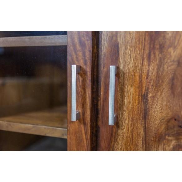 Meble z palisandru - drewniany kredens z szybą (MTR-103)
