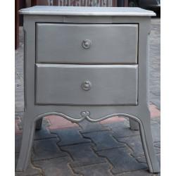 Meble glamour - srebrna szafka nocna (Glam-020)