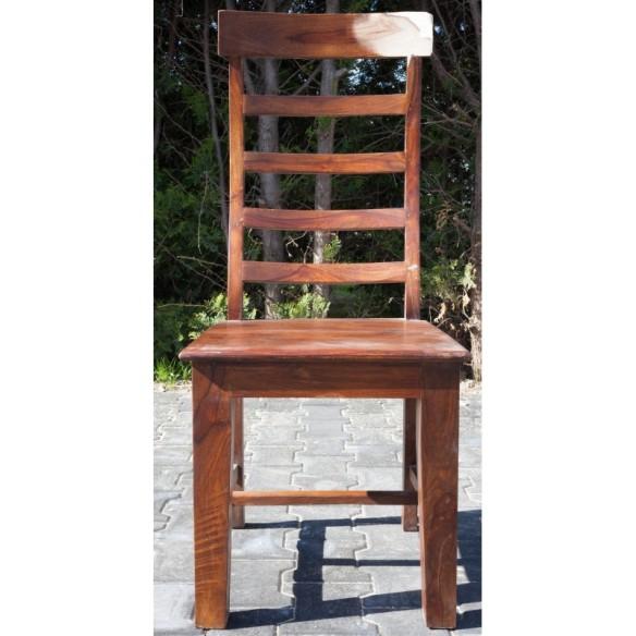 Outlet-Meble indyjskie - tradycyjne drewniane krzesło z wysokim oparciem (00-RD-003)