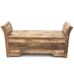 Meble Kolonialne - drewniana ławka - skrzynia na buty (Mango-16)